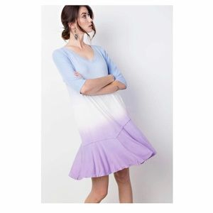Tri-Color Flow Mini Dress